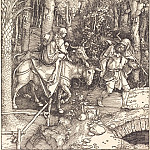 Durer Engravings - Flight into Egypt