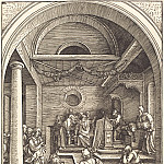 Durer Engravings - 13-year-old Jesus among the scribes in the Temple