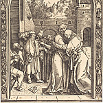 Joachim and Anne Meeting at the Golden Gate, Durer Engravings