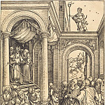 Introduction of the Virgin Mary in the Temple, Durer Engravings