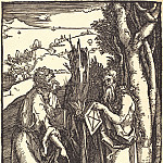 St. John the Baptist and St. Onufry, Durer Engravings