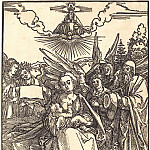 The Holy Family with three angels, Durer Engravings