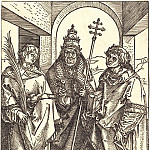 St. Stephen, Pope Sixtus and Lawrence, Durer Engravings