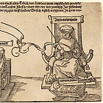 Durer Engravings - Justice, Truth and Reason in the Stocks with the Seated Judge and Sleeping Piety