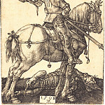 Durer Engravings - St. George on horseback