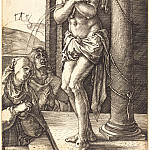 Durer Engravings - Suffering Christ at the Column
