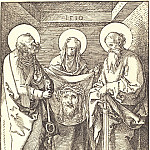 Holy Veronica between Sts Peter and Paul, Durer Engravings