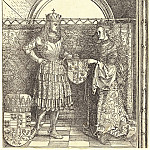 Durer Engravings - Maximilian engagement with Mary of Burgundy