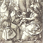 Durer Engravings - The Holy Family with Joachim and Anna under the tree