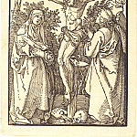 Christ on the Cross, with the Virgin Mary and John the Theologian, Durer Engravings
