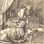 Durer Engravings - Saint Jerome in His Study