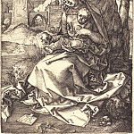 Madonna and Child with pear, Durer Engravings