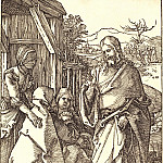 Christ bids farewell to his mother, Durer Engravings