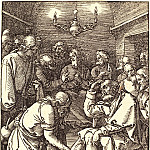 Christ washing the disciples' feet, Durer Engravings