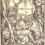 Saint Jerome in the cave, Durer Engravings