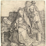 Durer Engravings - The Holy Family with Saints John, Magdalene and Nicodemus