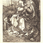 Durer Engravings - Madonna and Child under a tree