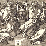 Durer Engravings - Sir that is displayed by two angels