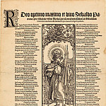 Durer Engravings - Saint Sebaldus Standing on a Column