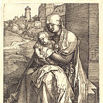 Madonna and Child with the wall, Durer Engravings