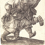 Durer Engravings - Two dancing peasant