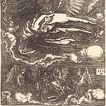 Durer Engravings - Sir, held one angel
