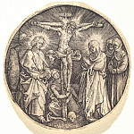 Durer Engravings - Crucifixion, called the Sword Pommel of Maximilian