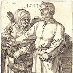 Durer Engravings - Peasant couple in the market