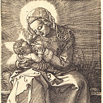 Durer Engravings - Madonna, nursing the Child