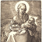 Durer Engravings - Madonna with Child swaddled