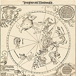 Durer Engravings - The Southern Celestial Hemisphere (The Southern Hemisphere of the Celestial Globe)