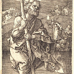 Saint Christopher, looking to the right, Durer Engravings