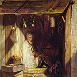 Charles Emile De Tournemine - Turkish Merchant Smoking in his Shop