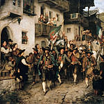 Johann Sperl - Return of Tyrolean militia in the war of 1809