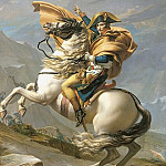 Jacques-Louis David - Bonaparte Crossing the Grand Saint-Bernard Pass, 20 May 1800