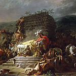 Jacques-Louis David - The Funeral of Patroclus