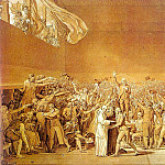 Jacques-Louis David - The Tennis Court Oath