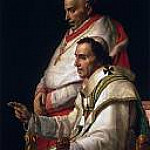 Jacques-Louis David - Portrait of Pope Pius VII and Cardinal Caprara
