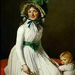 Mme. Seriziat and her son, Jacques-Louis David