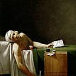 Death of Marat , Jacques-Louis David