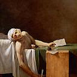 Jacques-Louis David - Assassination of Jean-Paul Marat in his bath