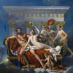 Jacques-Louis David - Mars Disarmed by Venus and the Three Graces