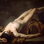 Jacques-Louis David - Male Nude known as Hector
