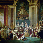 The Coronation of the Napoleon and Joséphine in Notre-Dame Cathedral on December 2, 1804 , Jacques-Louis David