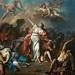 Apollo and Diana Attacking the Children of Niobe, Jacques-Louis David