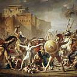 Sabine women stopped fighting the Romans with Sabines, Jacques-Louis David