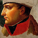 Napoleon I Bonaparte, Portrait in profile, Jacques-Louis David