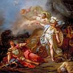 Jacques-Louis David - Combat between Minerva and Mars