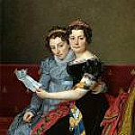 Jacques-Louis David - Portrait of the Sisters Zénaïde and Charlotte Bonaparte