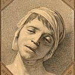 Jacques-Louis David - Head of the Dead Marat